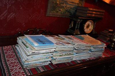 HUGE Lot 220 Vintage 1960-90s National Geographic Magazine Maps Inserts