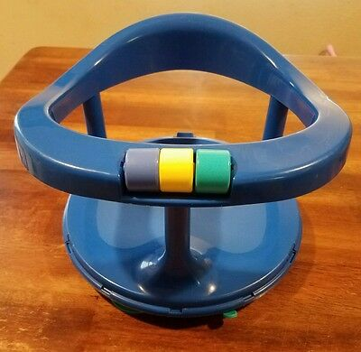 Safty 1st swivel bath seat ring blue suction cups infant bathing chair 1989 USA