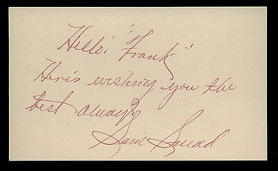 Sam Snead Signed 3x5 Index Card