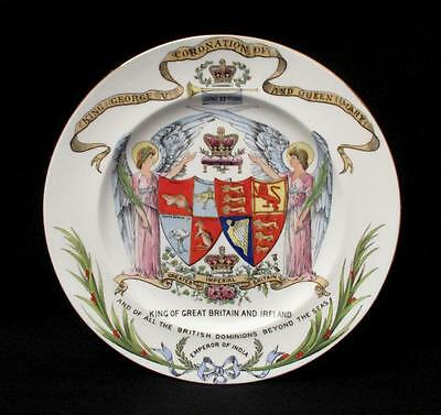 Late Foley Shelley England Coronation King George V & Queen Mary Plate 1911