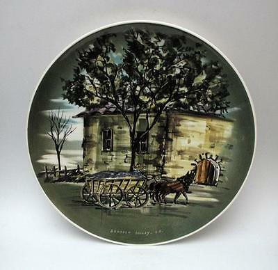 Lge Signed Studio Anna Hand Painted Australian Pottery Wall Plate Barossa Valley