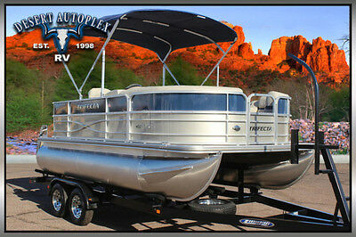2017 Forest River Trifecta 17C2 Electric Pontoon Boat Brand New
