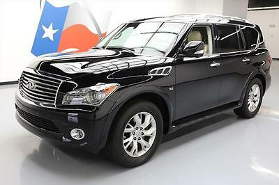 2014 Infiniti QX80 Base Sport Utility 4-Door 2014 INFINITI QX80 HTD LEATHER SUNROOF NAV 360 CAM 20K #552821 Texas Direct Auto