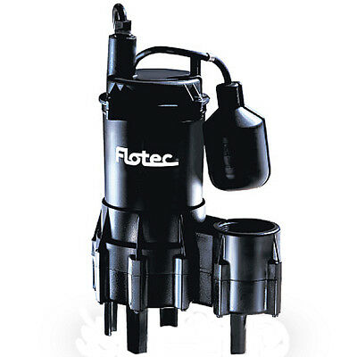 Flotec FPSE3200A - 4/10 HP Thermoplastic Sewage Pump w/ Piggyback Tether Float