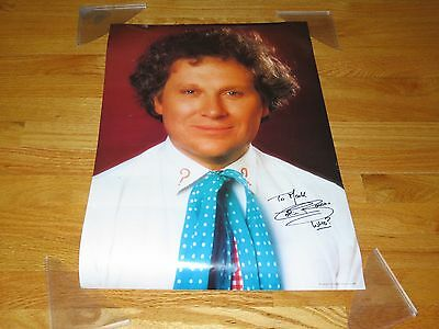 """1986 DR. WHO (Colin Baker) signed Poster Personalized """"To Mark"""""""