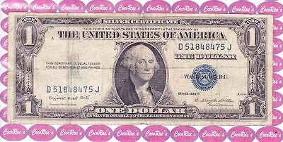 $1 1935G Silver Certificate D 51848475 J. Circulated but Very Collectible..