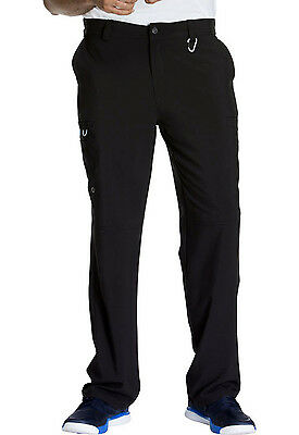 Black Cherokee Infinity Men 's Fly Front Scrub Pants CK200A BAPS Antimicrobial