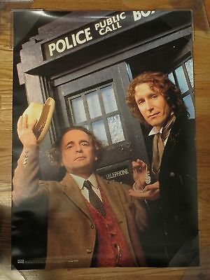 1996 DR. WHO (Paul McGann) signed POLICE Public Call Poster