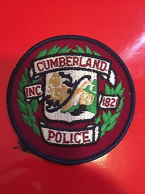 Cumberland Maine Police  Shoulder Patch   Used