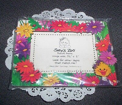 "Suzy's Zoo Photo Frame - New in Wrapper - 3.5"" x 5"" - made in USA"
