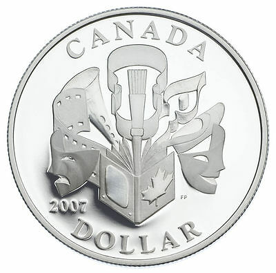 2007 Canada Special Edition Silver Dollar - Celebration of the Arts
