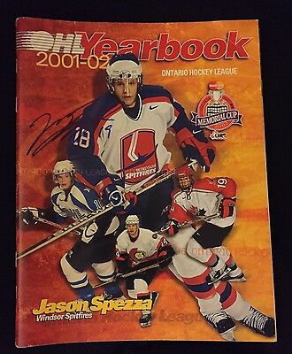 Jason Spezza Signed 2001/02 OHL Yearbook Dallas Stars Spitfires