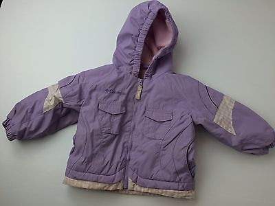 Columbia 2T EXC Pink and Purple Parka Jacket Fleece Lined  #3877
