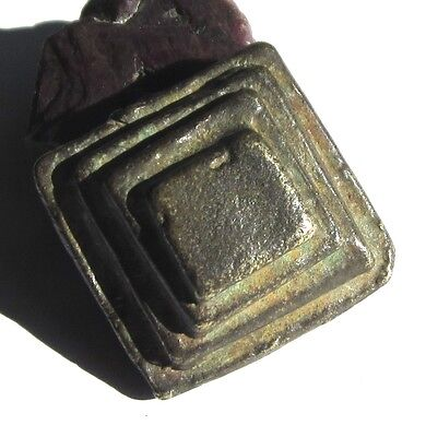 RARE LARGE OLD AKAN/ASHANTI SOLID BRASS FIGURATIVE GOLDWEIGHT 16mm x 31mm x 32mm