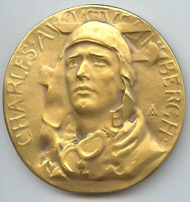 Society of Medalists #4 (1931), Charles Lindbergh/Skeleton (Lone Eagle Allegory)
