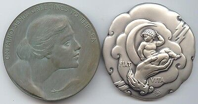 Society of Medalists (1935) #11 Great Lakes / Maidens, & #12 Creation / Universe