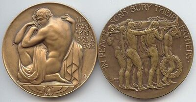 Society of Medalists (1937) #15 Lovers/All Mankind, & #16 Fathers Die/Sons Die