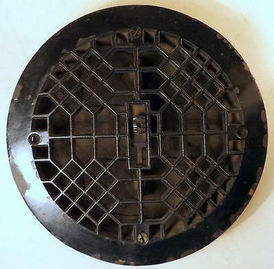 "Antique Cast Iron Victorian 9.5"" Furnace Grate w Louvered Back c1900"