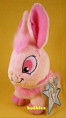NWT 2008 Series 2 Pink Cybunny Neopets Keyquest Plushie Stuffed Animal w/CODE