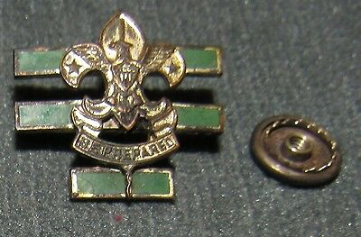 Boy Scouts of America Large Senior Patrol Leader Collar Brass Pin Screwpost Back