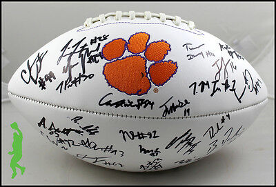 2016-17 Clemson Tigers Autographed Signed Football Ball Watson Williams Coa