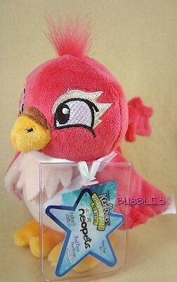 NWT 2008 Series 6 Red Pteri Neopets Keyquest Plushie Stuffed Animal w/CODE bird