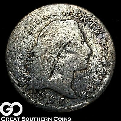 1795 Flowing Hair Half Dime, Seldom Seen Early Silver, RARE Key Date, Free S/H!