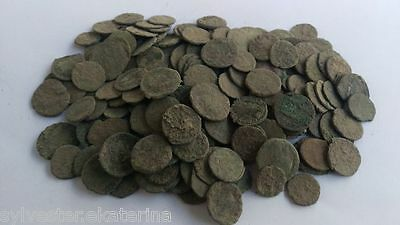 183 uncleaned roman coins