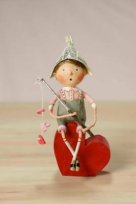 11023 Fishing For Love Love Valentine's Day Lori Mitchell Figurine Heart on Hook