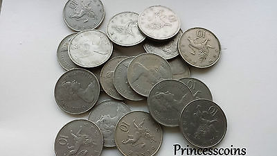 1968 To 1981 Large Old Elizabeth Ii Ten Pence 10P-Choices Of Year