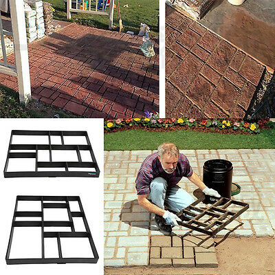 60cm Driveway Paving Pavement Mold Patio Concrete Stepping Stone Path Walk Maker