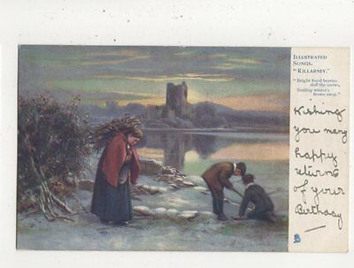 Illustrated Songs Killarney Vintage Tuck Postcard 613a