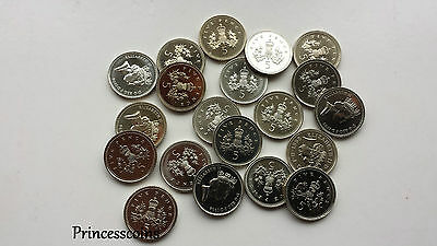 Selection Of 1982 To 2014 Uncirculated 5P Five Pence Coin Collection