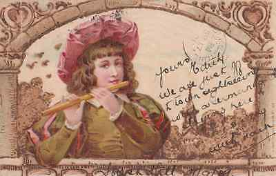 The Pied Piper Of Hamelin Flute Antique 1901 German Maybe Earliest Ever Postcard