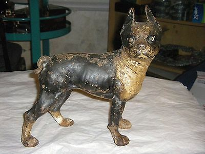 Vintage/antique Original Hubley Cast Iron Boston Terrier Dog  Doorstop