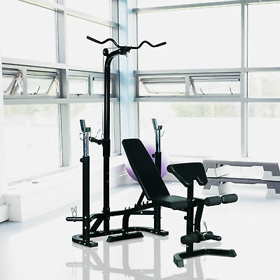 Weight Bench Exercise Strength Training Lifting Barbell Fitness Workout Home Gym