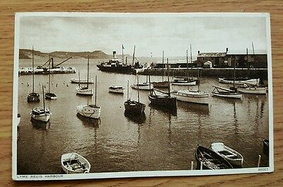 Posted PPC of Lyme Regis Harbour