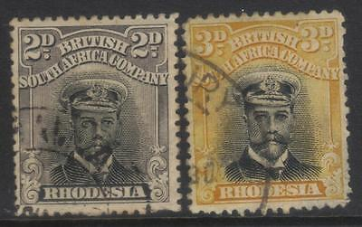 Rhodesia 1913-1919 Definitives Sg256/260 Used Cat £7+