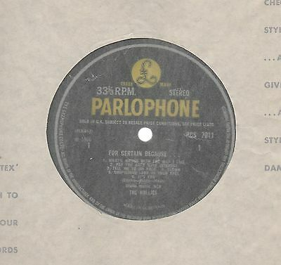 The Hollies - 'For Certain Because' 1966 UK Parlophone Stereo LP!