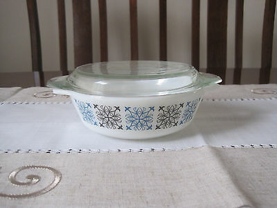 Vintage 1967 Jaj Pyrex Chelsea 505 Small Round Casserole Dish With Lid