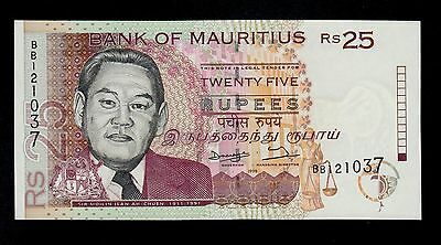 Mauritius  25 Rupees 1998  Bb  Pick # 42 Unc Banknote.