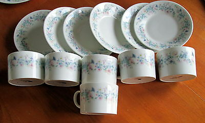 Wedgwood Angela - 6 Cups and Saucers Hardly Used.