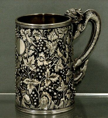 Chinese Export Silver Mug                         HOACHING      c1850