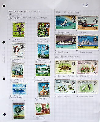 British Indian Ocean Territory - Mint Hinged Collection. Cat. Val £65. 2 Scans.