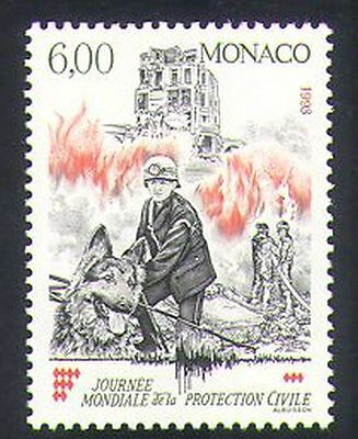 Monaco 1993 Fireman/Dog/Emergency Rescue/Fire Fighters/Animals/Nature 1v n35174
