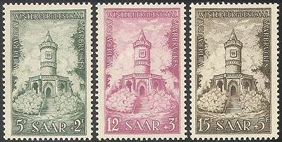 Saar 1956 Winterberg Memorial Fund/Building/Architecture/Heritage 3v set n42062