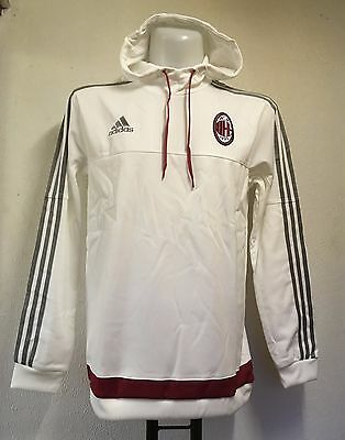 Ac Milan Hooded Sweatshirt By Adidas Adults Size Medium Brand New With Tags