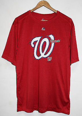 Mens Majestic New Washington Nationals Tee MLB Red Cool Base T Shirt Size L