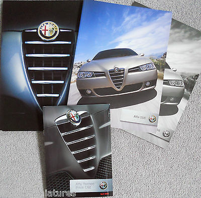 Alfa Romeo 156 Ti 2.0 1.8 TS 1.9 2.4 JTD Facelift Set of 3 x Brochure in Folder