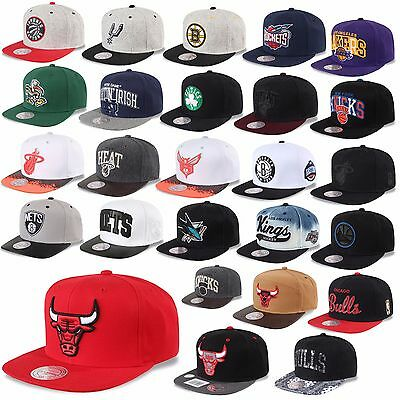 Mitchell & Ness And Snapback Cap Chicago Bulls Nets Kings Magic Heat Uvm -C